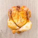 A roasted whole chicken - not the one I did in the instant pot